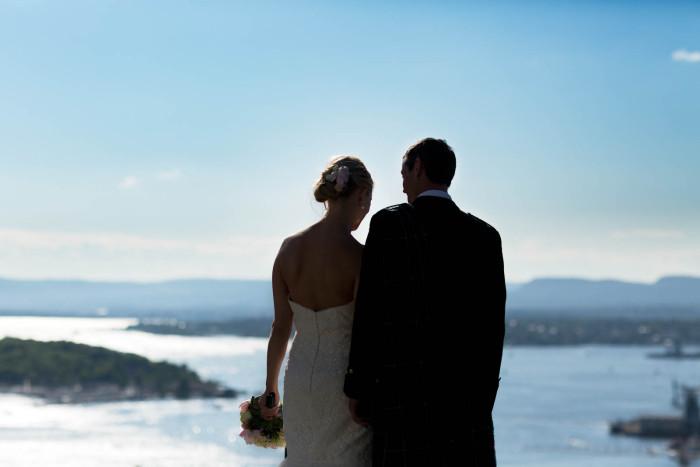 Bryllupsfotografering Ekebergrestauranten