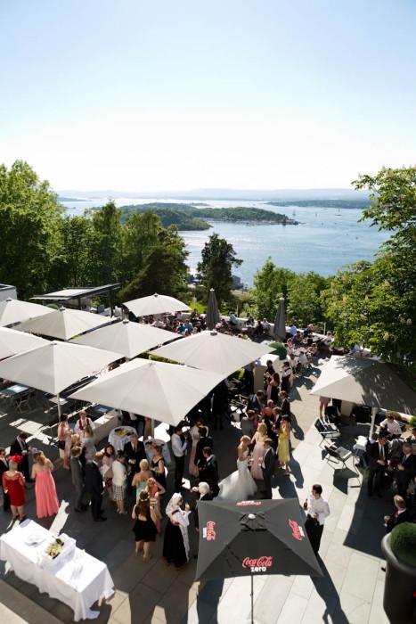 Bryllup på Ekebergrestauranten