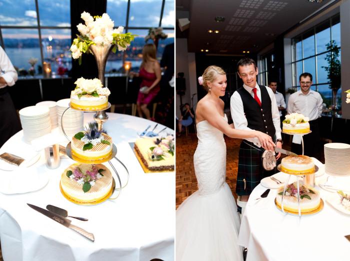 Bryllup på Ekebergrestauranten kake
